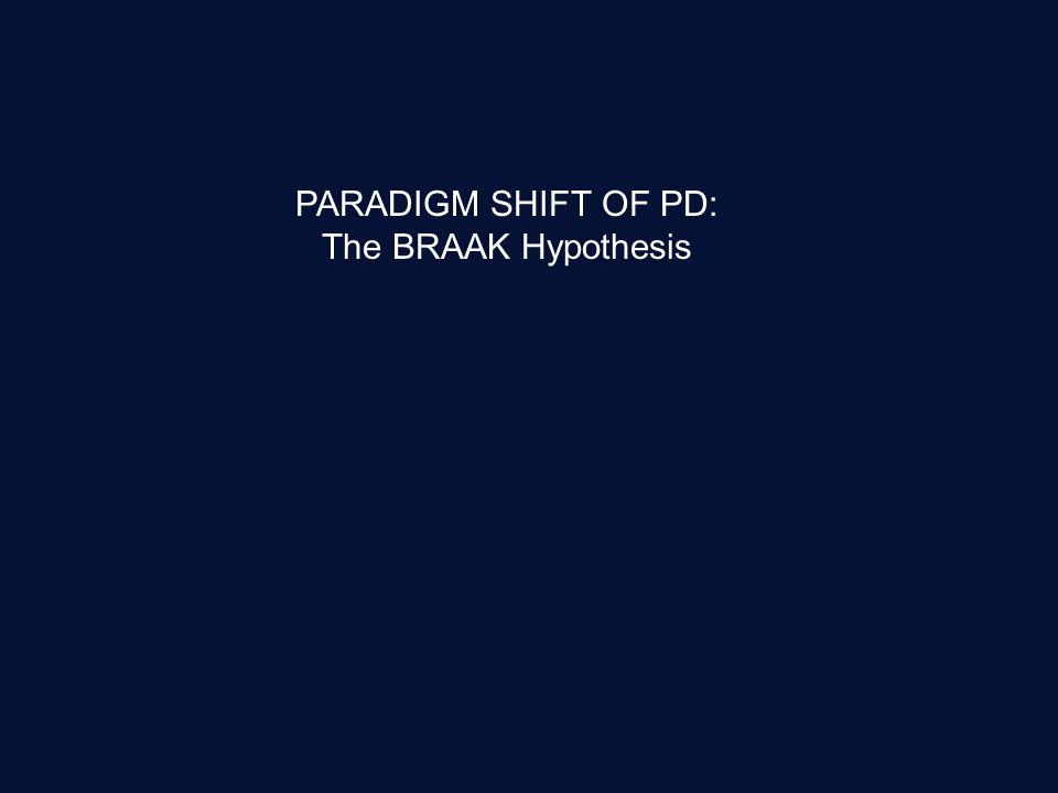PARADIGM SHIFT OF PD: The BRAAK Hypothesis