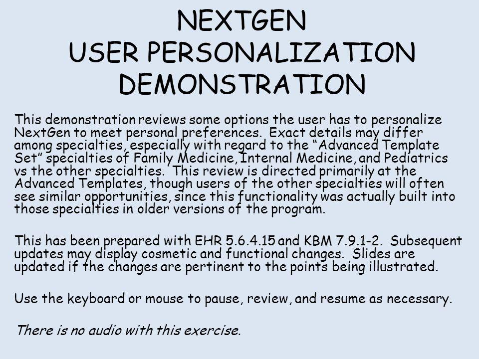NEXTGEN USER PERSONALIZATION DEMONSTRATION - ppt video online download