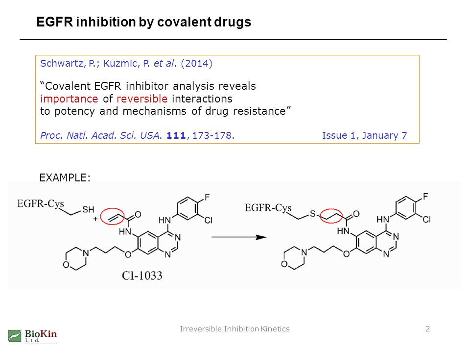 EGFR inhibition by covalent drugs