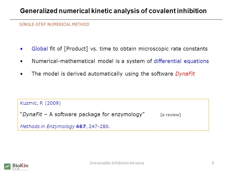 Generalized numerical kinetic analysis of covalent inhibition