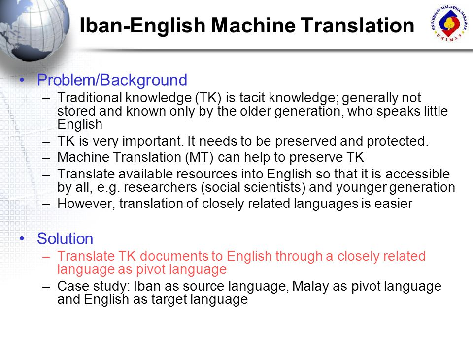 Iban-English Machine Translation