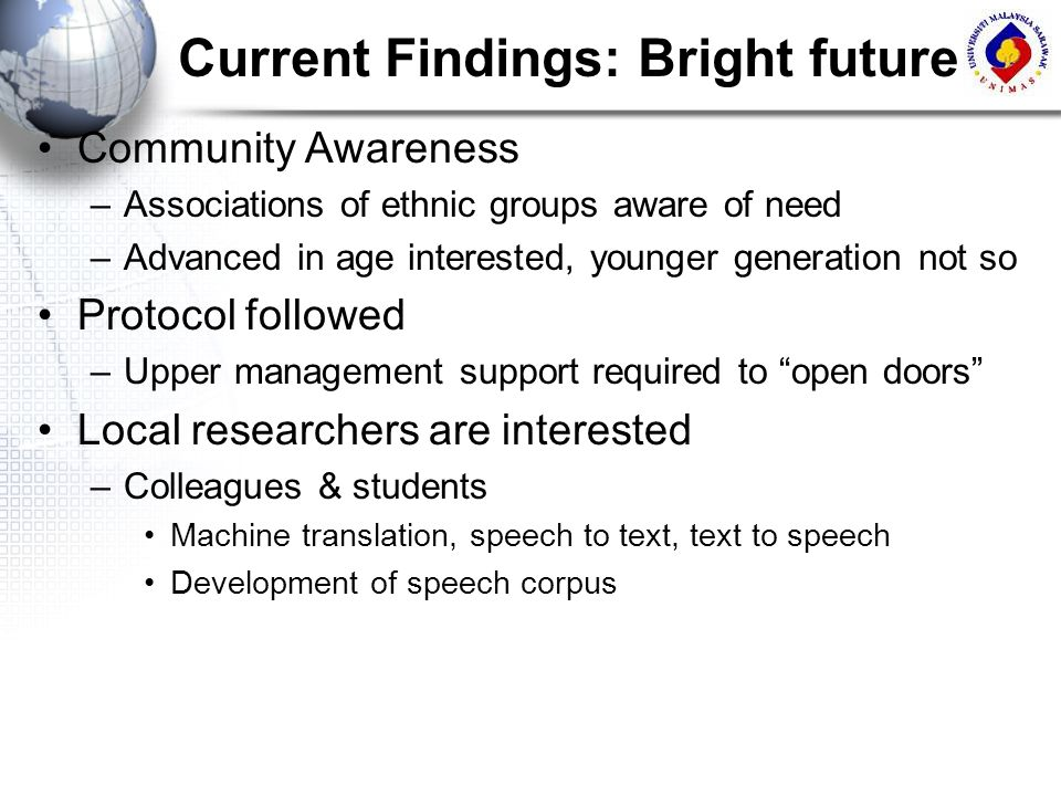 Current Findings: Bright future