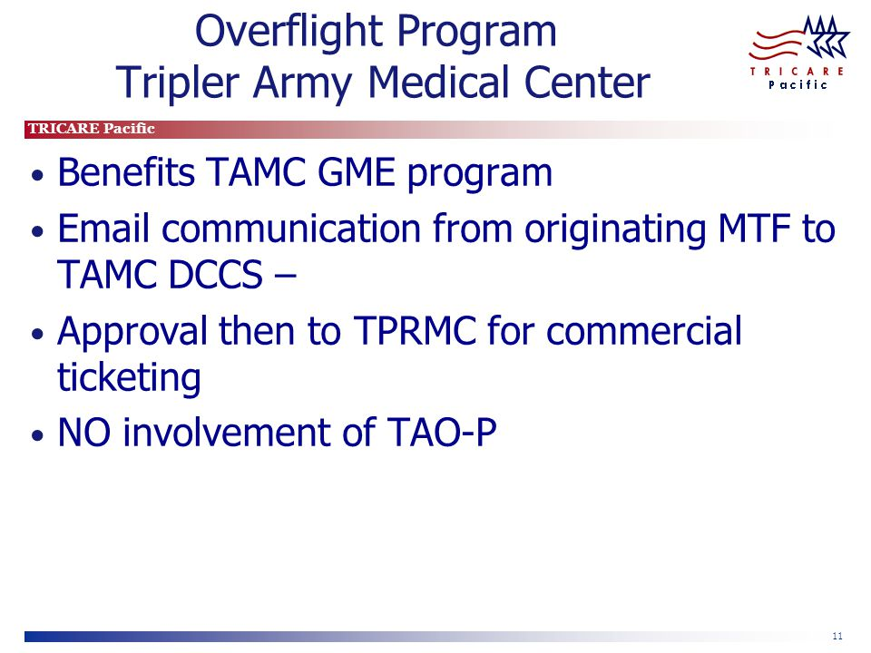 Overflight Program Tripler Army Medical Center
