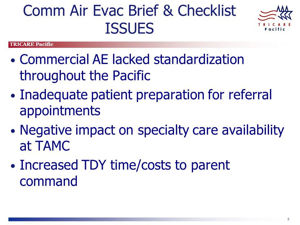Comm Air Evac Brief & Checklist ISSUES