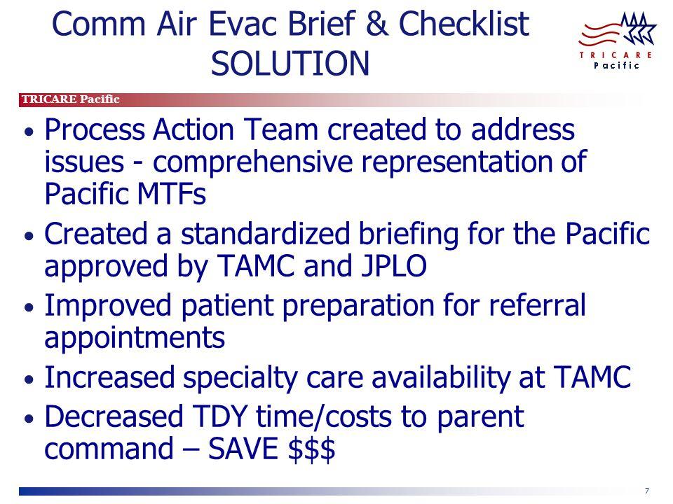 Comm Air Evac Brief & Checklist SOLUTION
