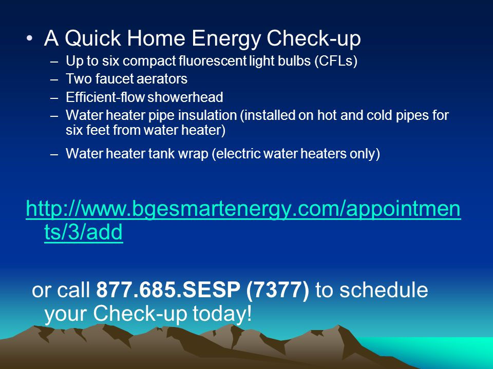 A Quick Home Energy Check-up