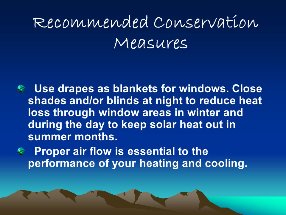 Recommended Conservation Measures