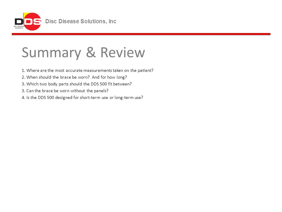 Summary & Review Disc Disease Solutions, Inc