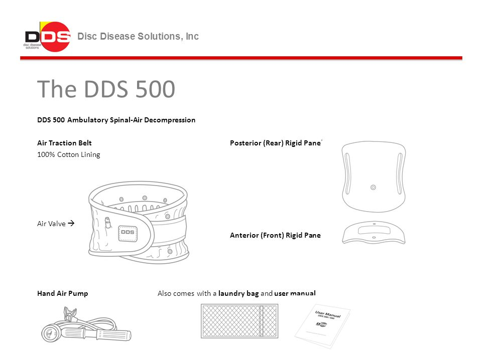 The DDS 500 Disc Disease Solutions, Inc