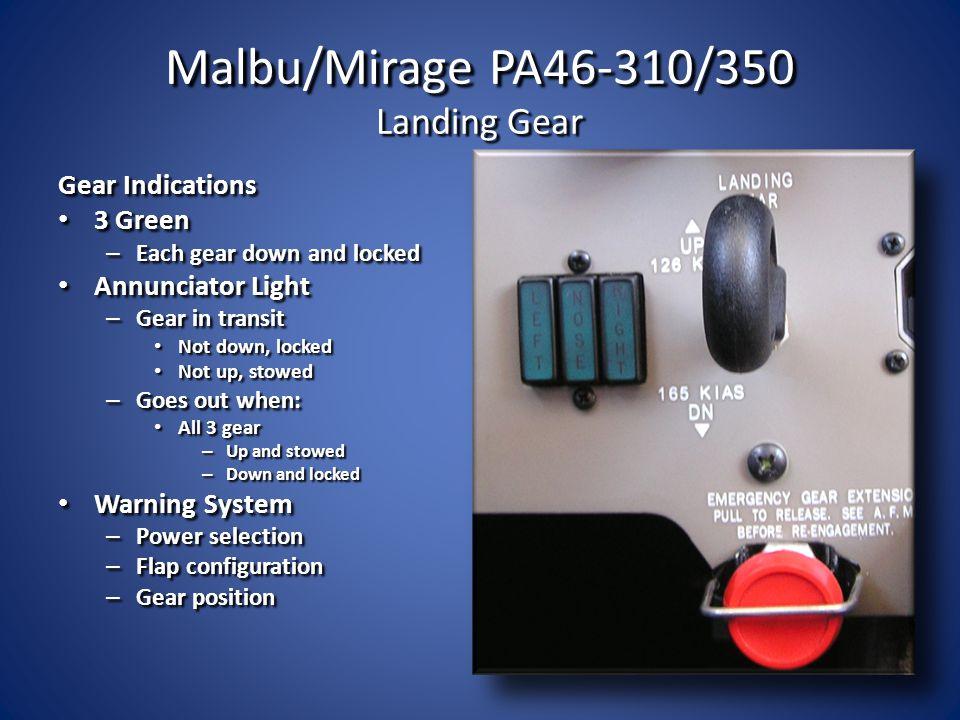 Malbu/Mirage PA46-310/350 Landing Gear