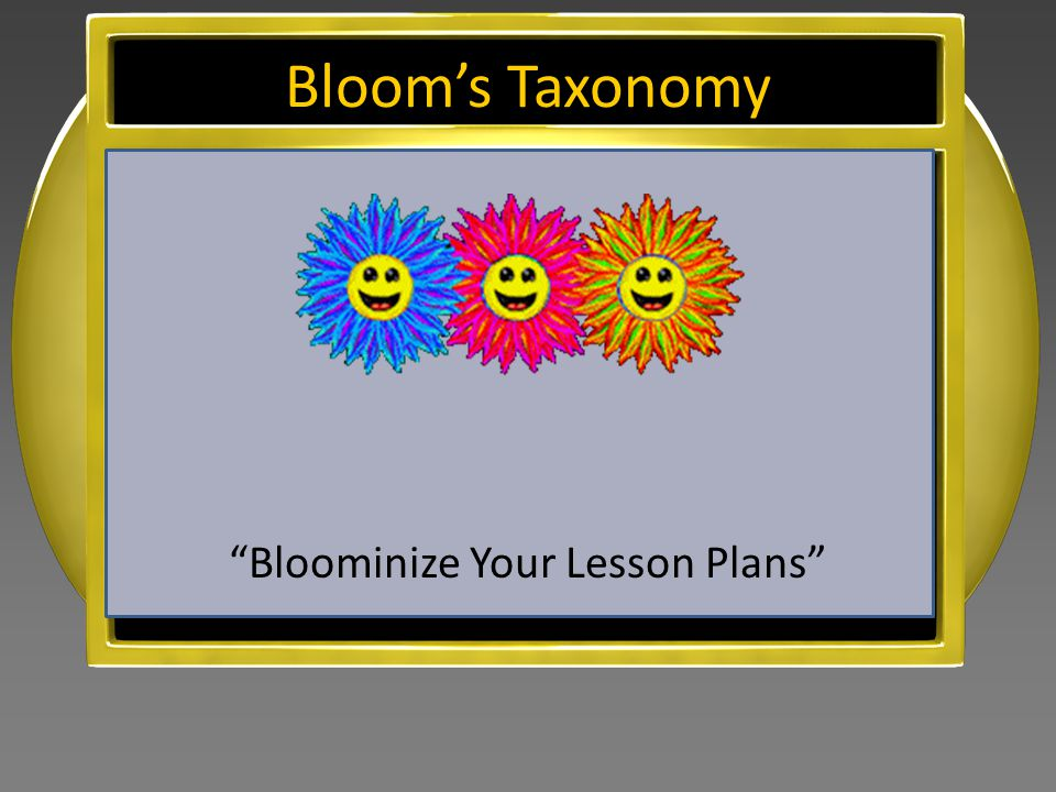 Bloominize Your Lesson Plans