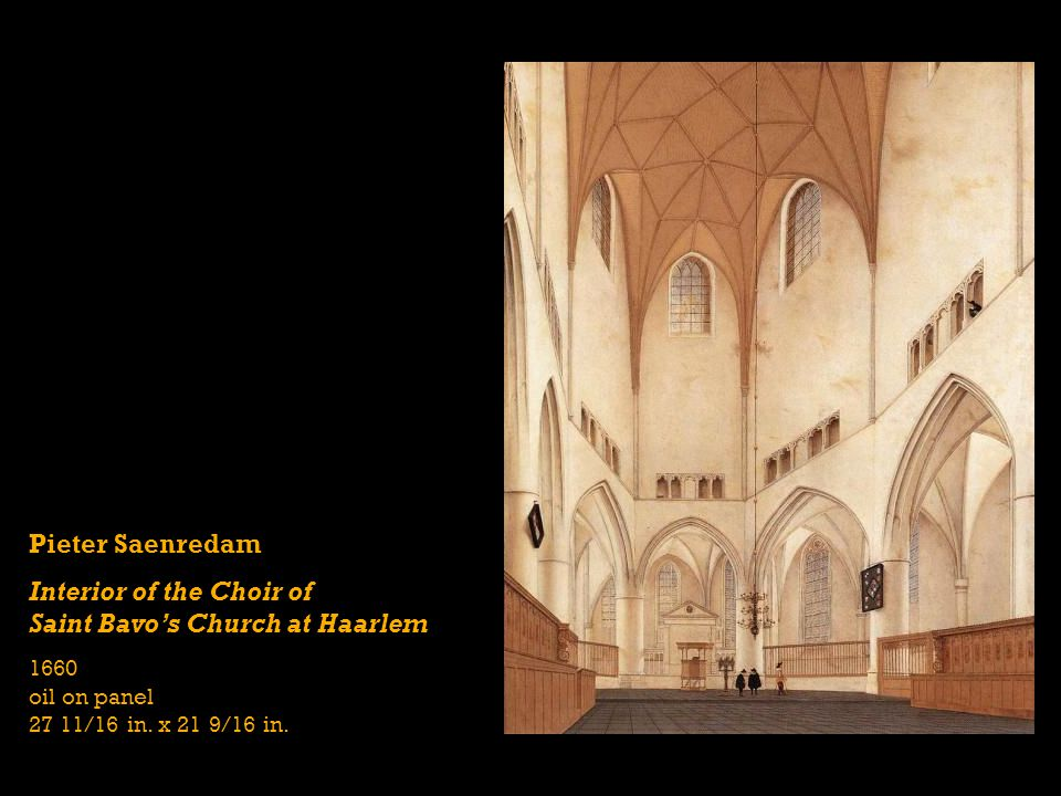 Interior of the Choir of Saint Bavo's Church at Haarlem