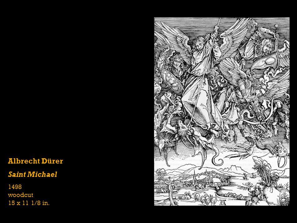 Albrecht Dürer Saint Michael 1498 woodcut 15 x 11 1/8 in.