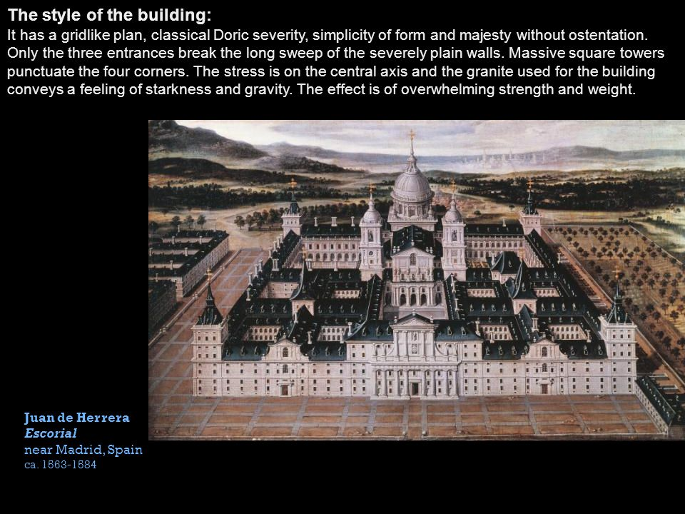 The style of the building: