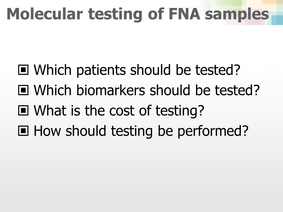 Molecular testing of FNA samples
