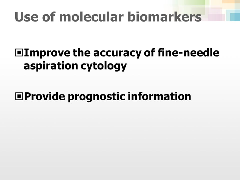 Use of molecular biomarkers