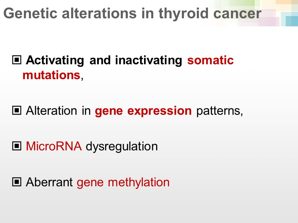 Genetic alterations in thyroid cancer