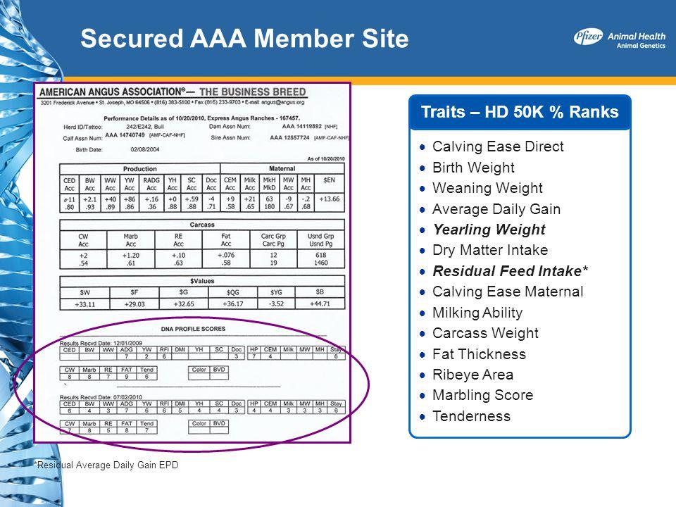 Secured AAA Member Site