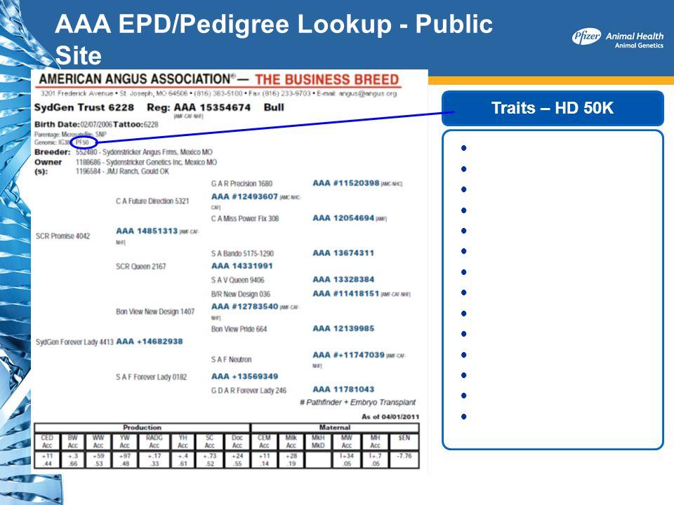 AAA EPD/Pedigree Lookup - Public Site