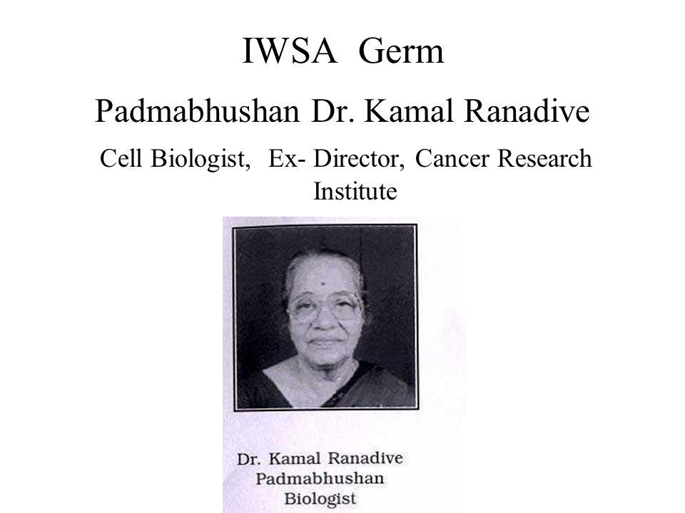 IWSA Germ Padmabhushan Dr. Kamal Ranadive