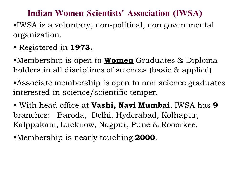 Indian Women Scientists Association (IWSA)