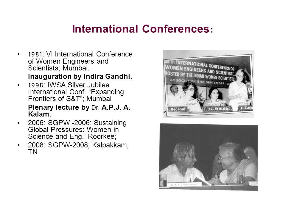 International Conferences:
