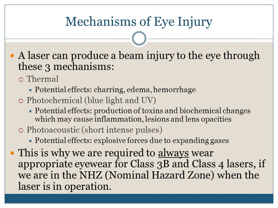 Mechanisms of Eye Injury