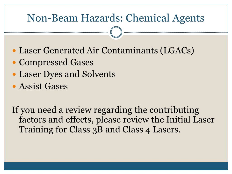 Non-Beam Hazards: Chemical Agents