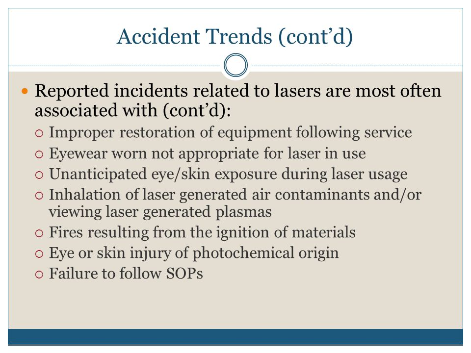 Accident Trends (cont'd)