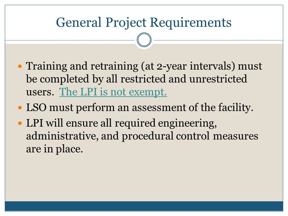 General Project Requirements