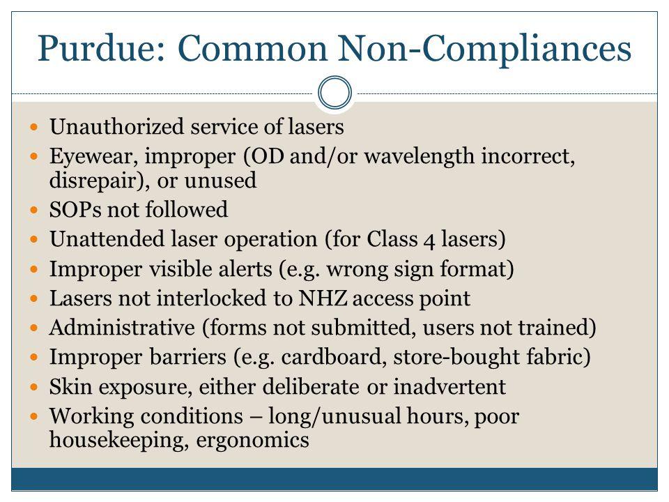 Purdue: Common Non-Compliances