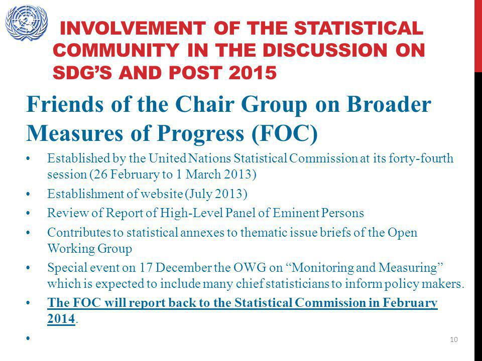 Friends of the Chair Group on Broader Measures of Progress (FOC)