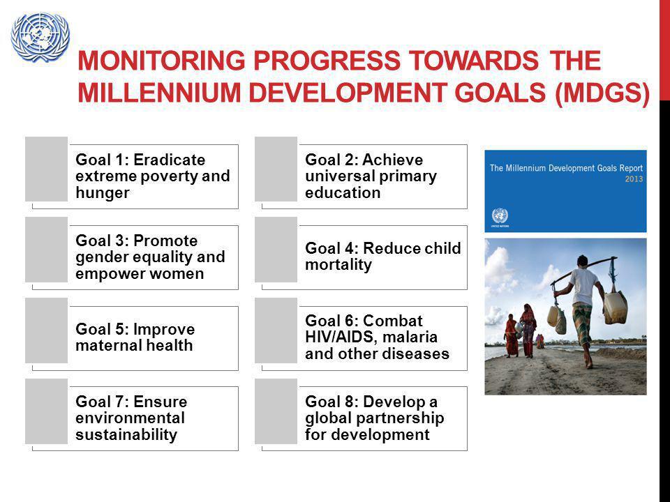 Monitoring progress towards the Millennium Development Goals (MDGs)