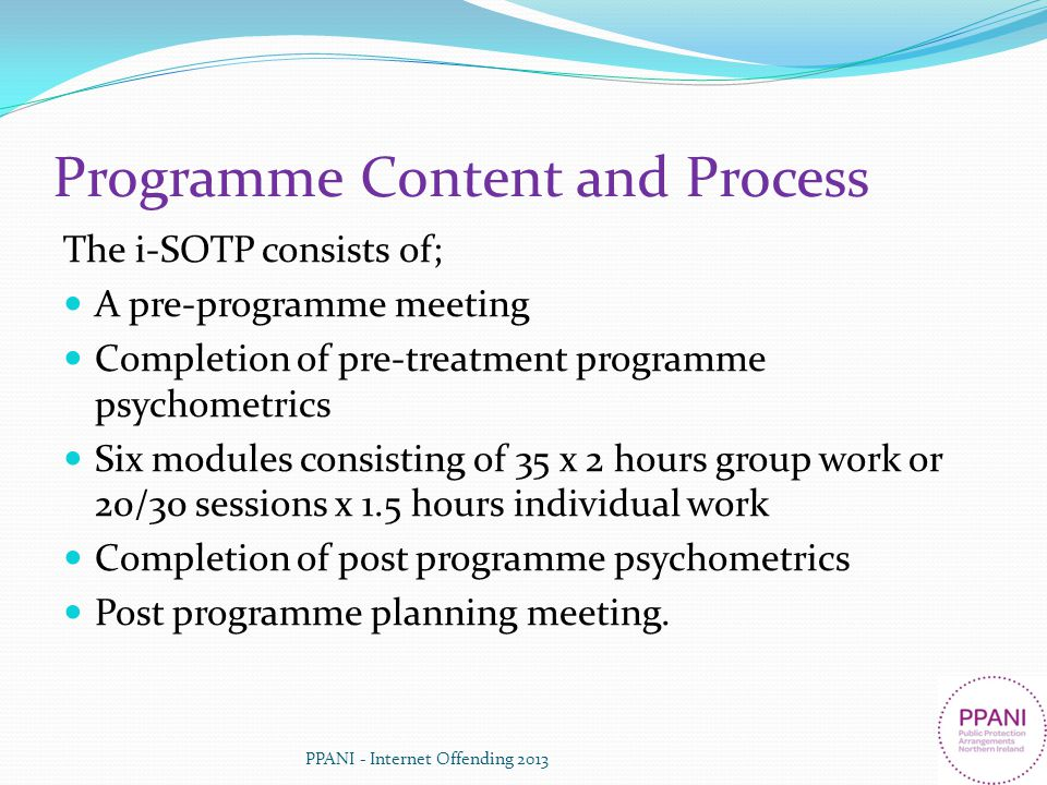 Programme Content and Process
