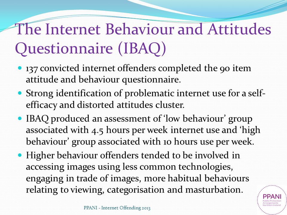 The Internet Behaviour and Attitudes Questionnaire (IBAQ)