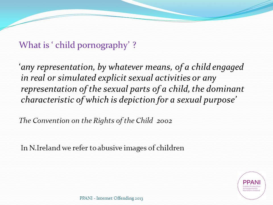 What is ' child pornography'