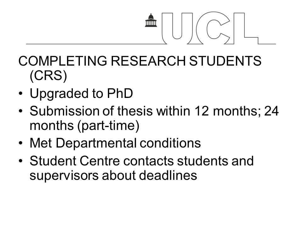 University of london thesis submission