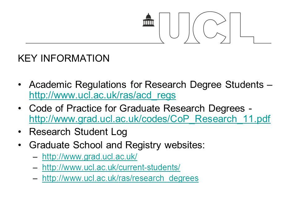 Graduate School and Registry websites: