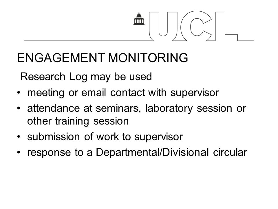 ENGAGEMENT MONITORING Research Log may be used