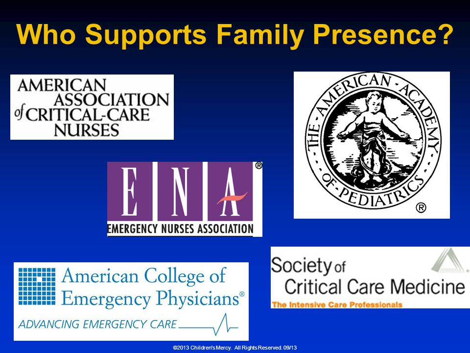 Who Supports Family Presence
