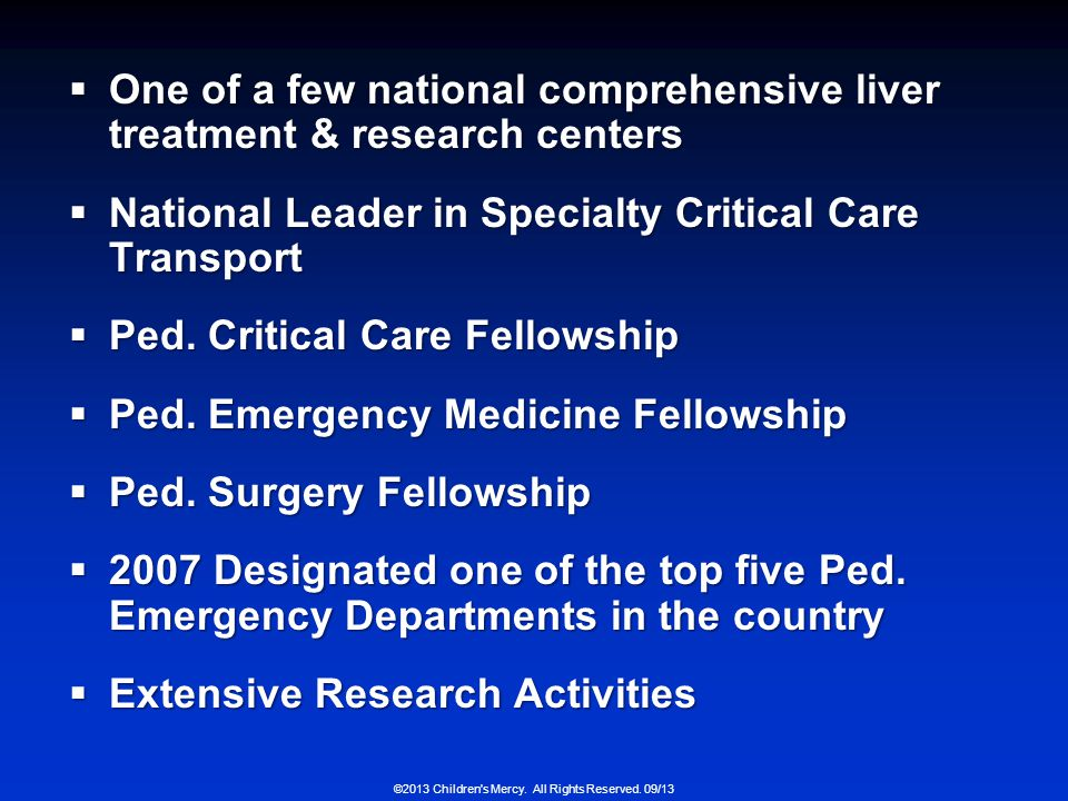 One of a few national comprehensive liver treatment & research centers