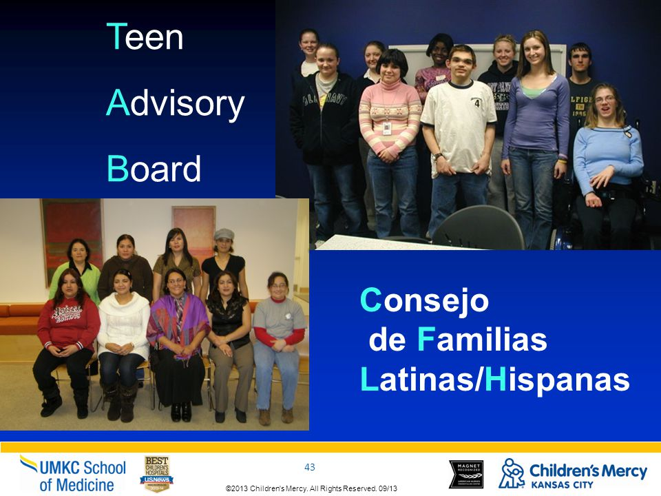 Teen Advisory Board Consejo de Familias Latinas/Hispanas