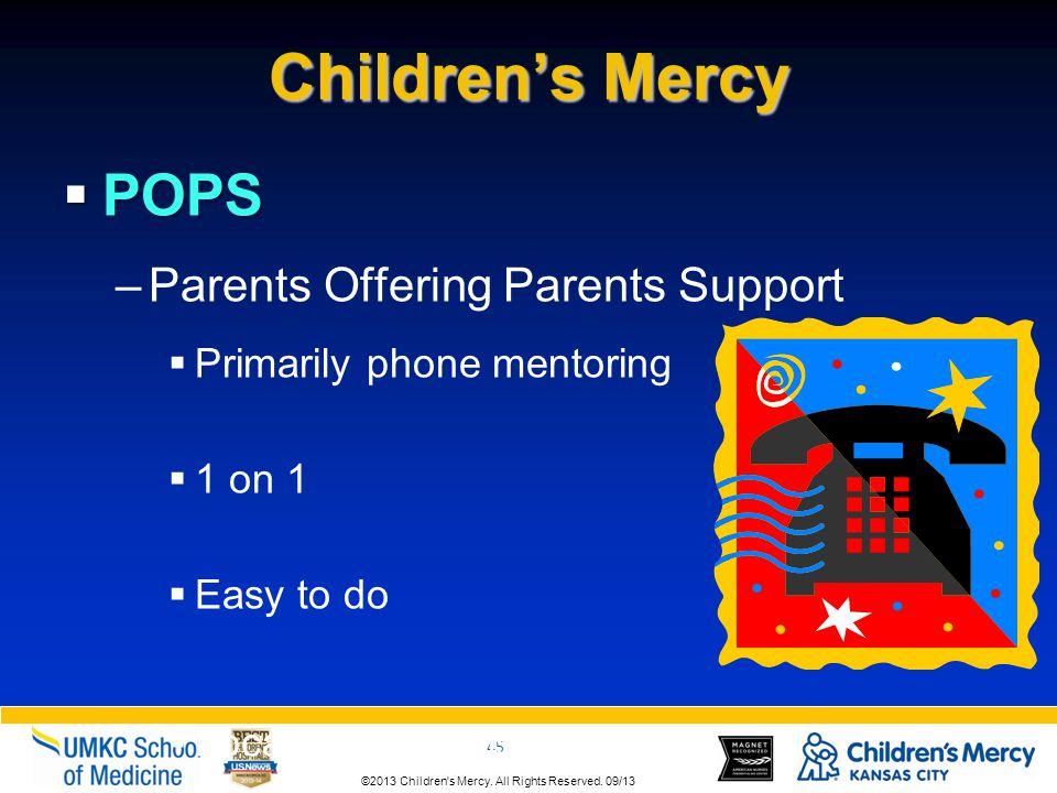 Children's Mercy POPS Parents Offering Parents Support