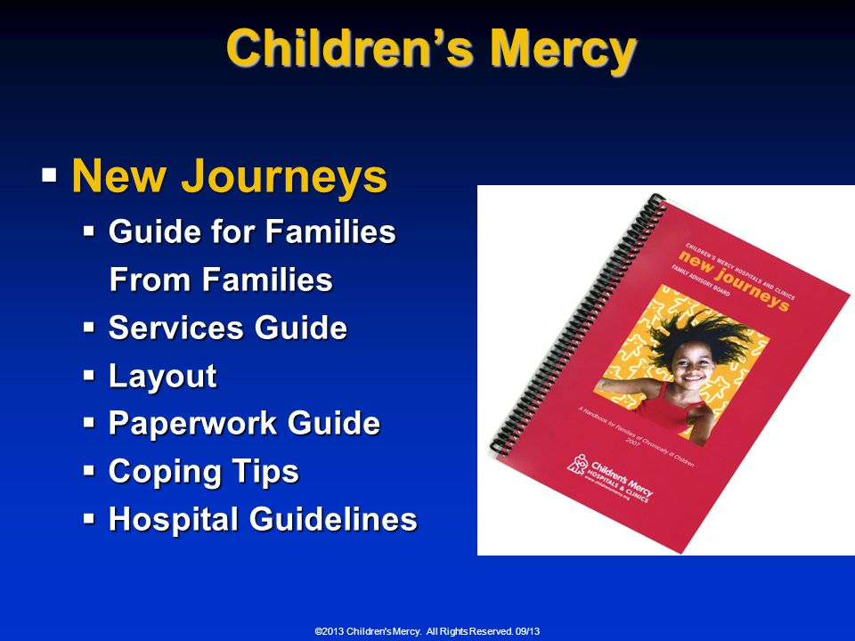 Children's Mercy New Journeys Guide for Families From Families