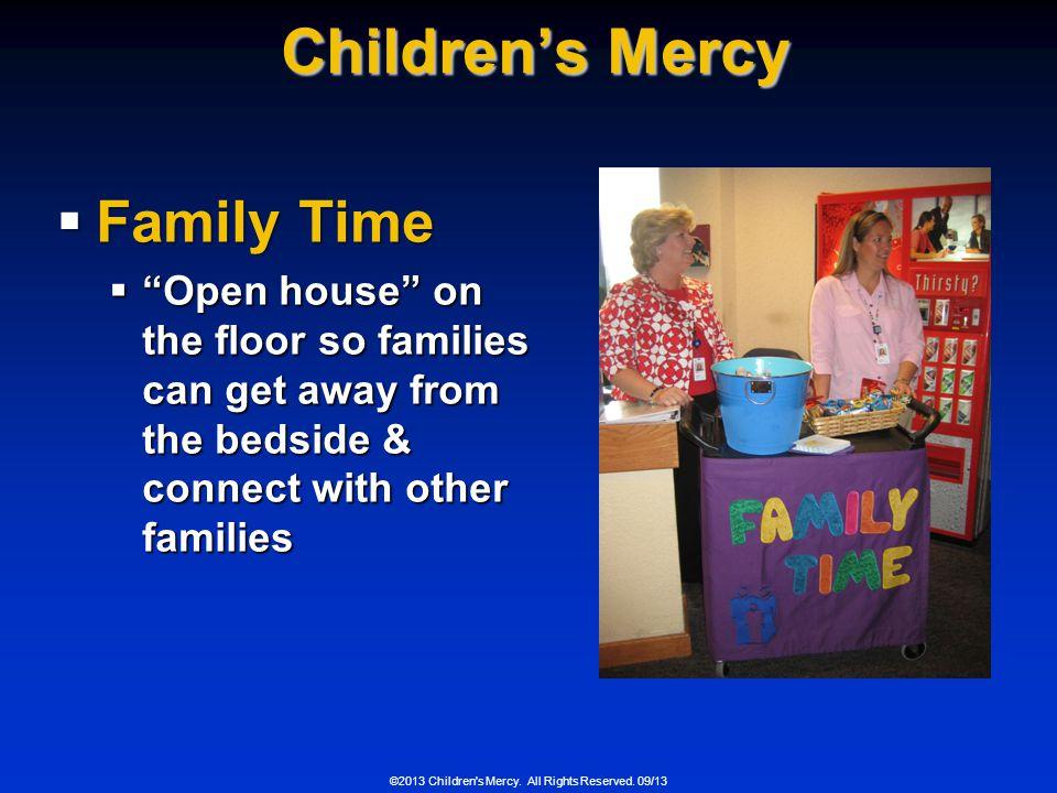 Children's Mercy Family Time