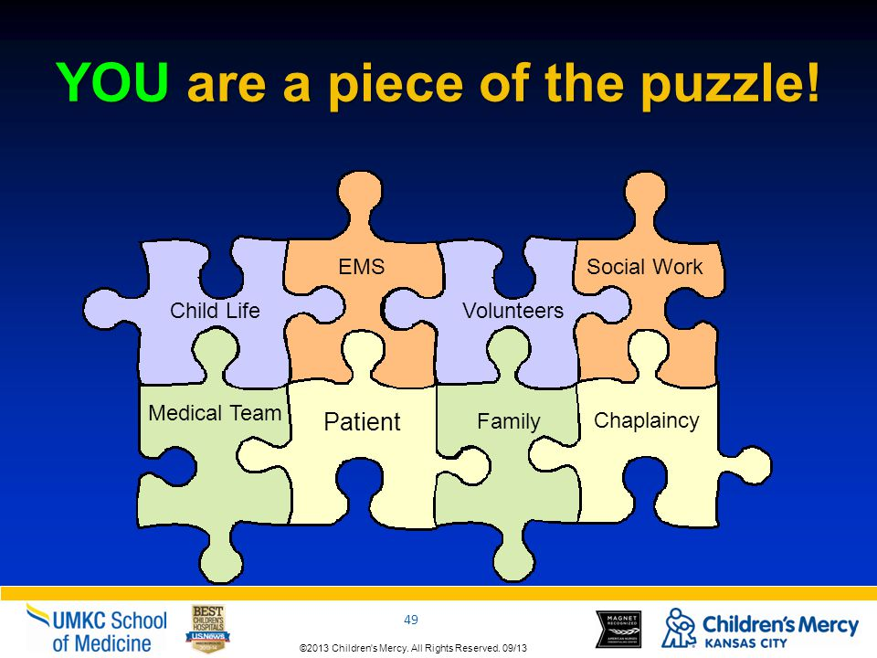 YOU are a piece of the puzzle!