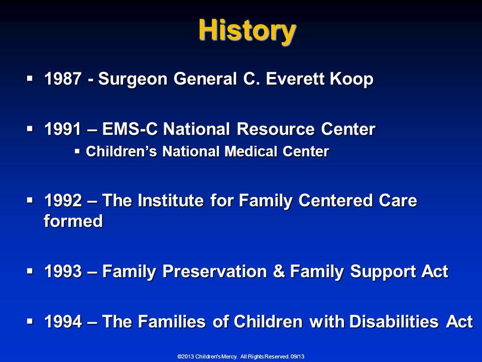 History 1987 - Surgeon General C. Everett Koop