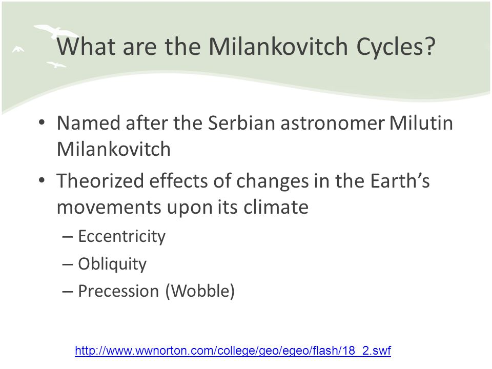 What are the Milankovitch Cycles
