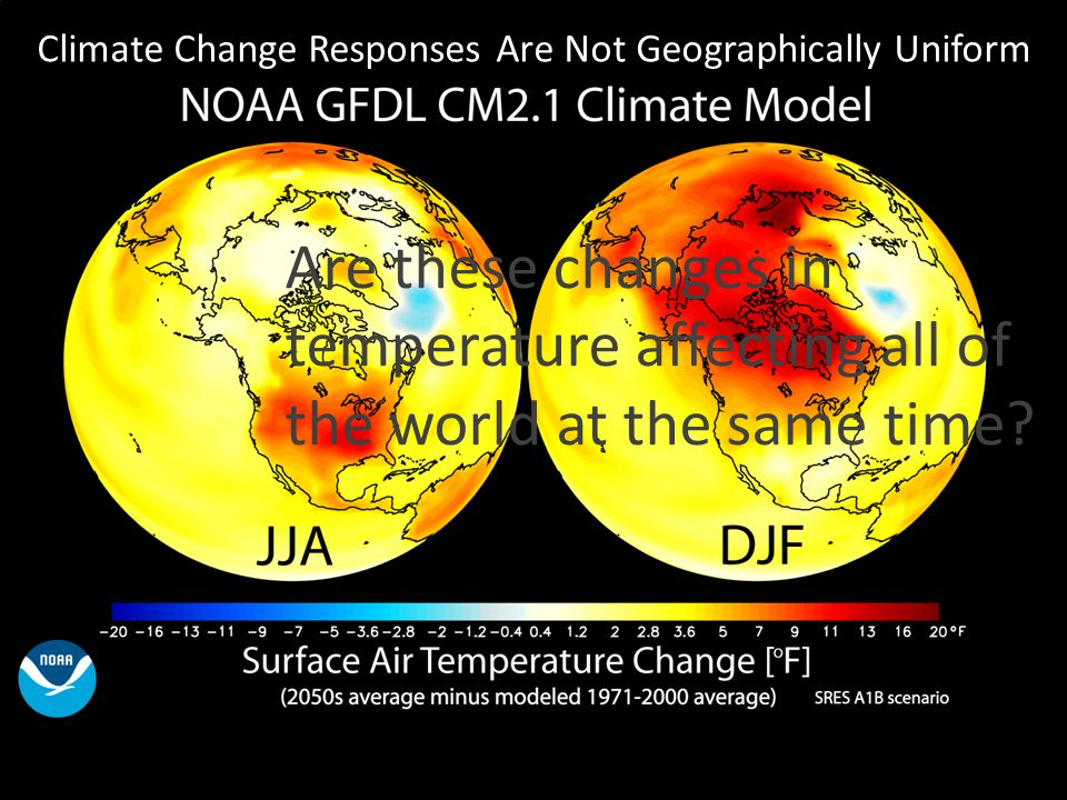 Climate Change Responses Are Not Geographically Uniform