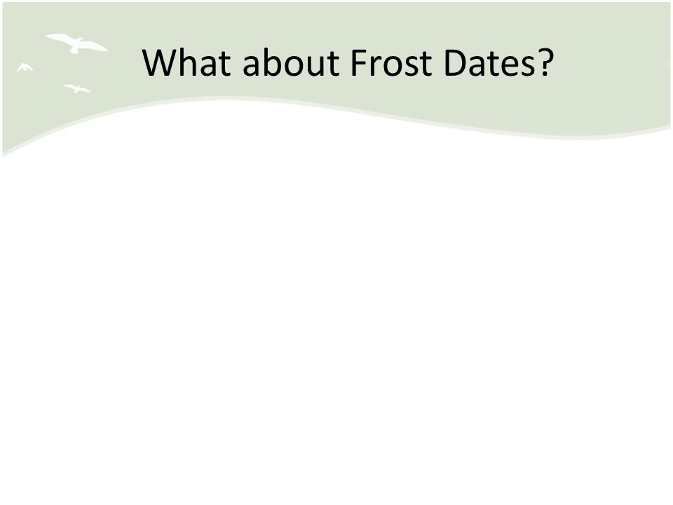 What about Frost Dates